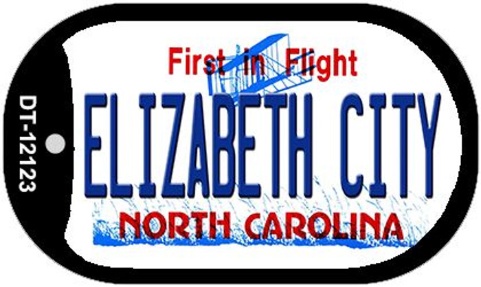 Elizabeth City North Carolina State Novelty Metal Dog Tag Necklace DT-12123