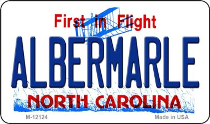 Albermarle North Carolina State Novelty Metal Magnet M-12124