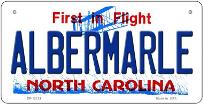 Albermarle North Carolina State Novelty Metal Bicycle Plate BP-12124