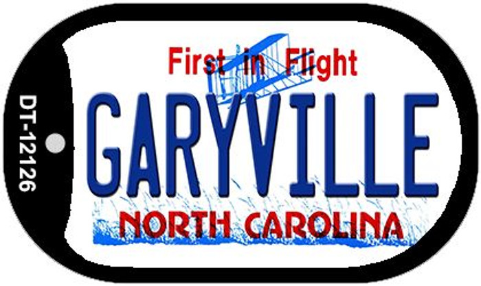 Garyville North Carolina State Novelty Metal Dog Tag Necklace DT-12126