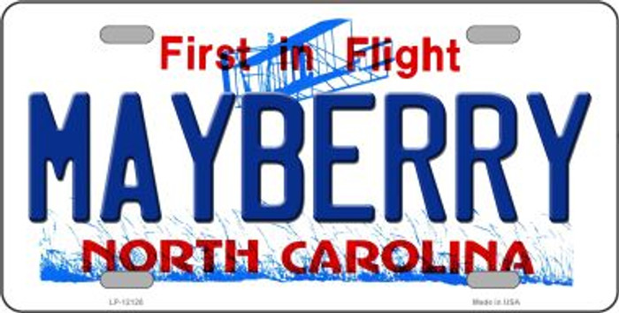 Mayberry North Carolina State Novelty Metal License Plate LP-12128