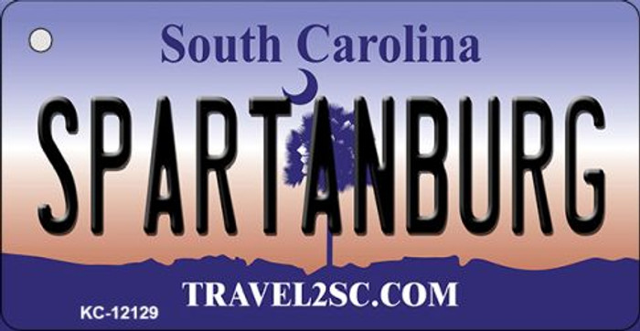 Spartanburg South Carolina State Novelty Metal Key Chain KC-12129