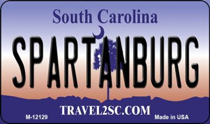 Spartanburg South Carolina State Novelty Metal Magnet M-12129