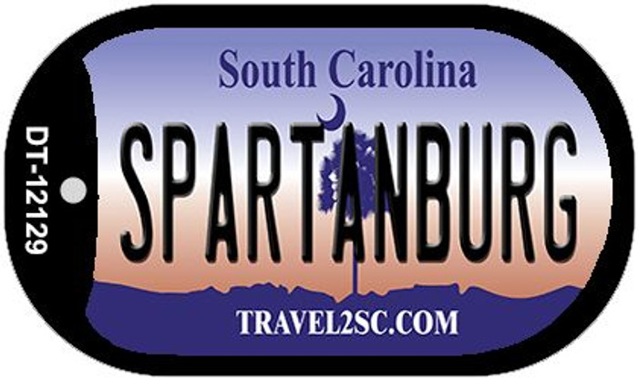 Spartanburg South Carolina State Novelty Metal Dog Tag Necklace DT-12129