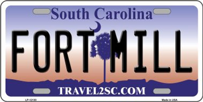 Fort Mill South Carolina State Novelty Metal License Plate LP-12130
