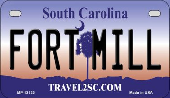 Fort Mill South Carolina State Novelty Metal Motorcycle Plate MP-12130