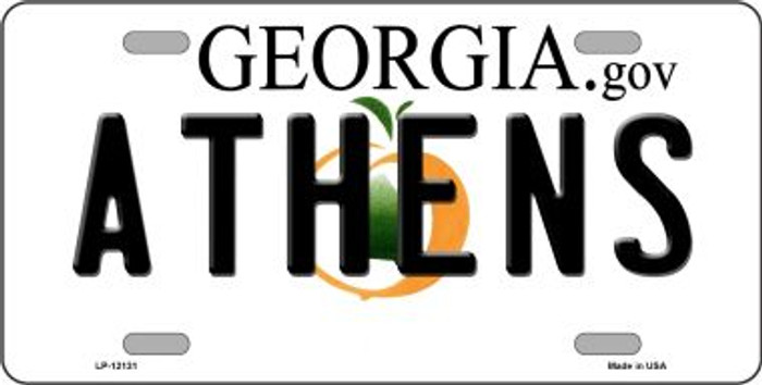 Athens Georgia State Novelty Metal License Plate LP-12131