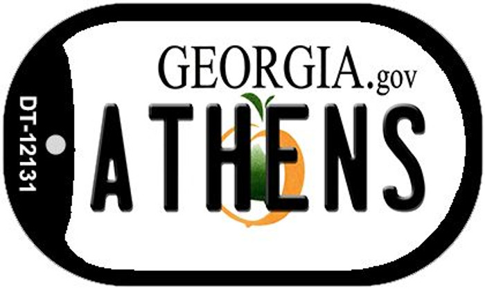 Athens Georgia State Novelty Metal Dog Tag Necklace DT-12131
