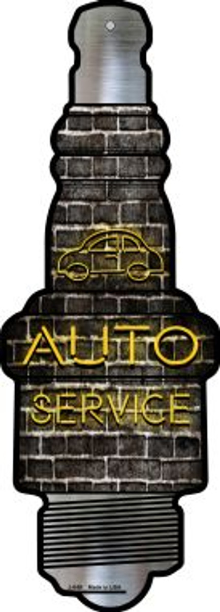 Auto Service Novelty Metal Spark Plug Sign J-049