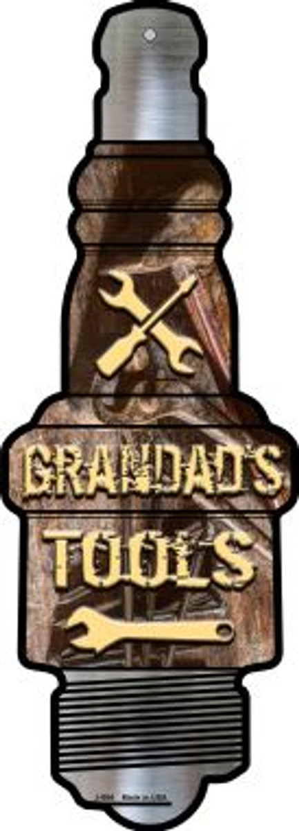 Grandads Tools Novelty Metal Spark Plug Sign J-064