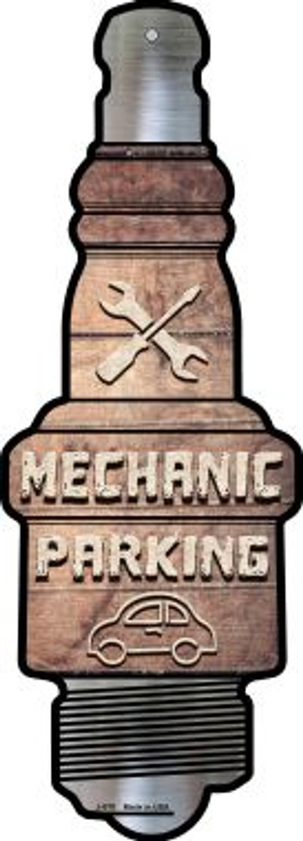 Mechanic Parking Novelty Metal Spark Plug Sign J-070