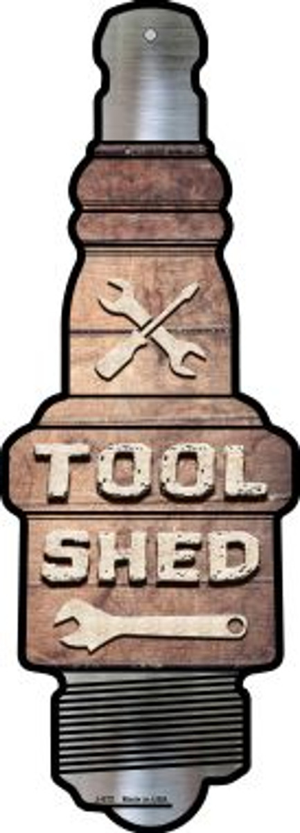 Tool Shed Novelty Metal Spark Plug Sign J-072