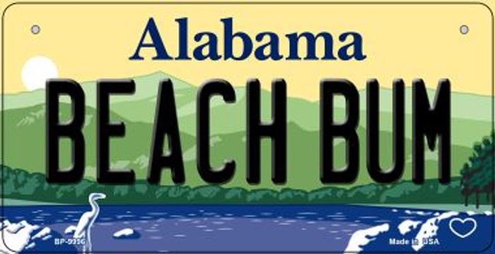 Beach Bum Alabama Novelty Metal Bicycle Plate BP-9996