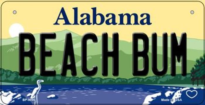 Beach Bum Alabama Novelty Metal Bicycle Plate BP-9996