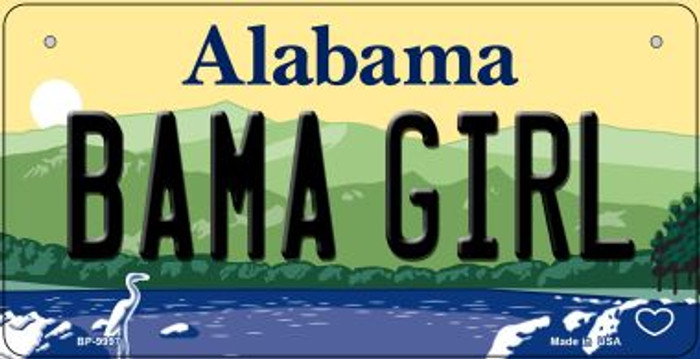Bama Girl Alabama Novelty Metal Bicycle Plate BP-9997