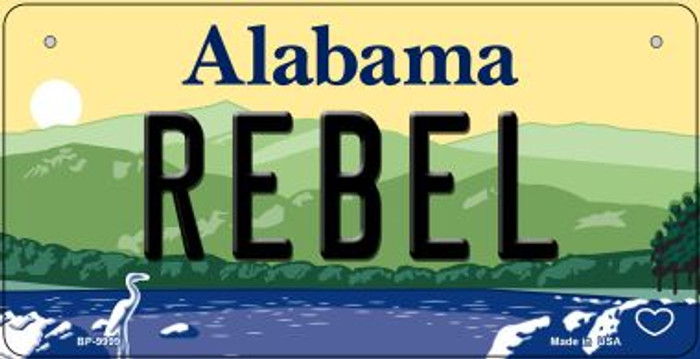 Rebel Alabama Novelty Metal Bicycle Plate BP-9999