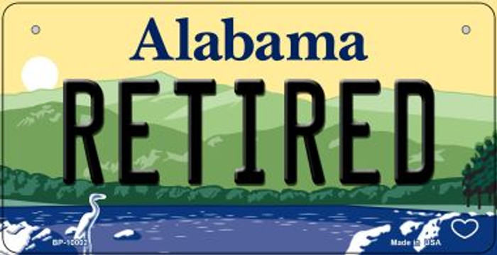 Retired Alabama Novelty Metal Bicycle Plate BP-10002