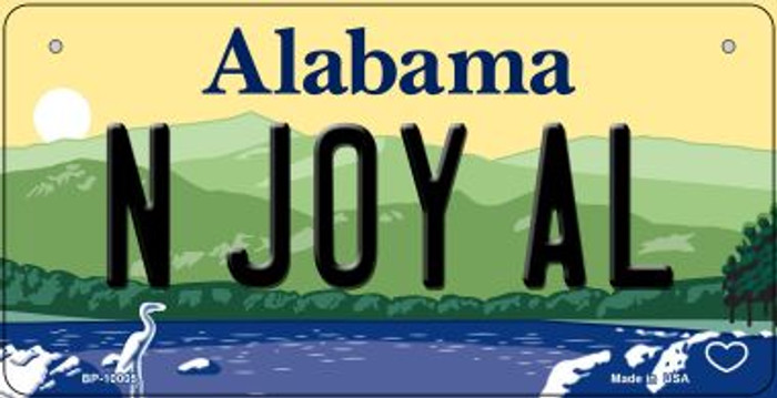 N Joy AL Alabama Novelty Metal Bicycle Plate BP-10005