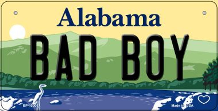 Bad Boy Alabama Novelty Metal Bicycle Plate BP-10006
