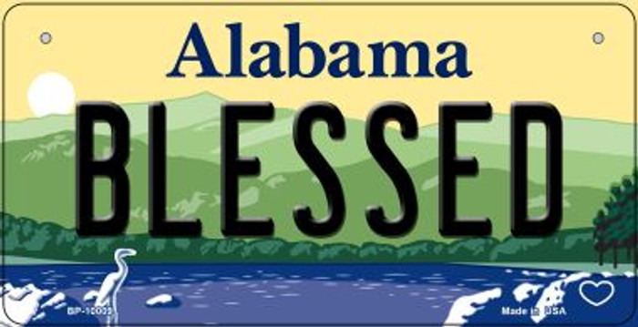 Blessed Alabama Novelty Metal Bicycle Plate BP-10009