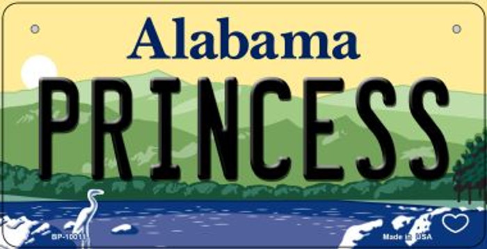 Princess Alabama Novelty Metal Bicycle Plate BP-10011