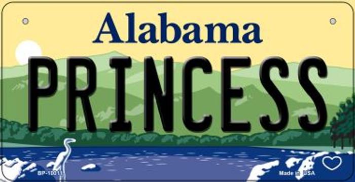 Princess Alabama Novelty Metal Bicycle Plate BP-10011