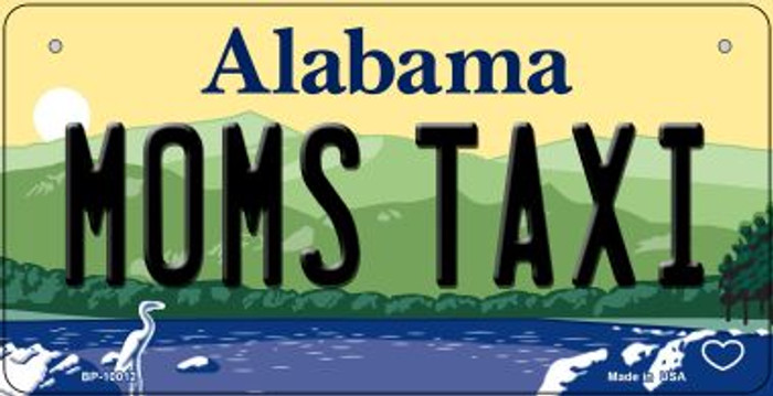 Moms Taxi Alabama Novelty Metal Bicycle Plate BP-10012
