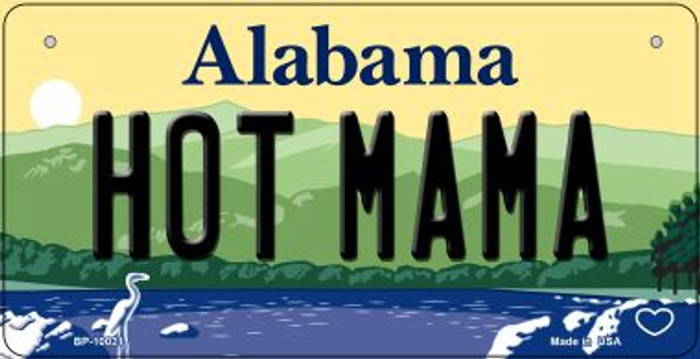 Hot Mama Alabama Novelty Metal Bicycle Plate BP-10021