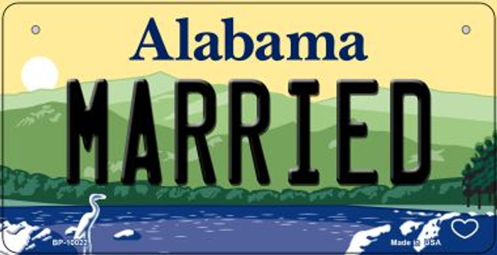Married Alabama Novelty Metal Bicycle Plate BP-10022