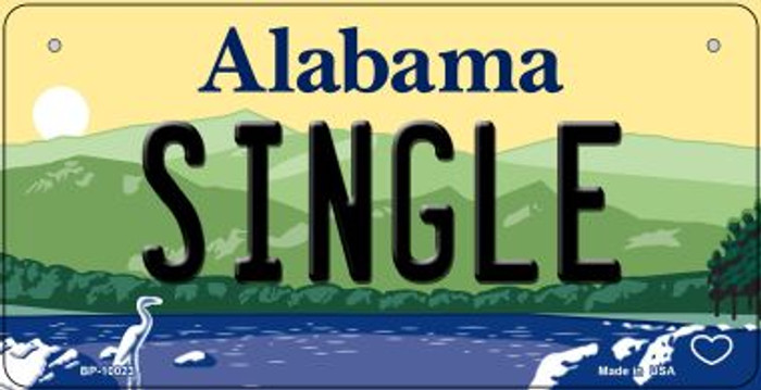 Single Alabama Novelty Metal Bicycle Plate BP-10023