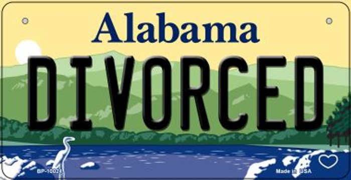 Divorced Alabama Novelty Metal Bicycle Plate BP-10024