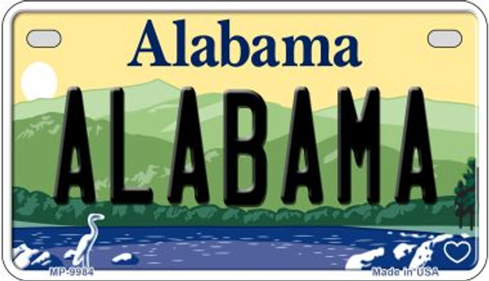 Alabama Novelty Metal Motorcycle Plate MP-9984