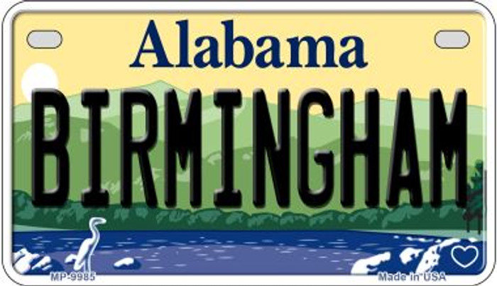 Birmingham Alabama Novelty Metal Motorcycle Plate MP-9985