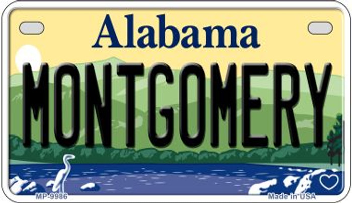 Montgomery Alabama Novelty Metal Motorcycle Plate MP-9986