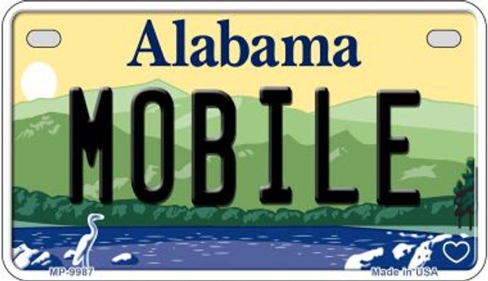 Mobile Alabama Novelty Metal Motorcycle Plate MP-9987