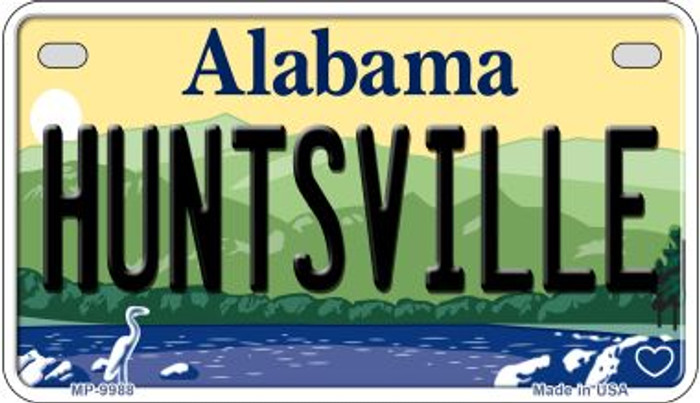 Huntsville Alabama Novelty Metal Motorcycle Plate MP-9988