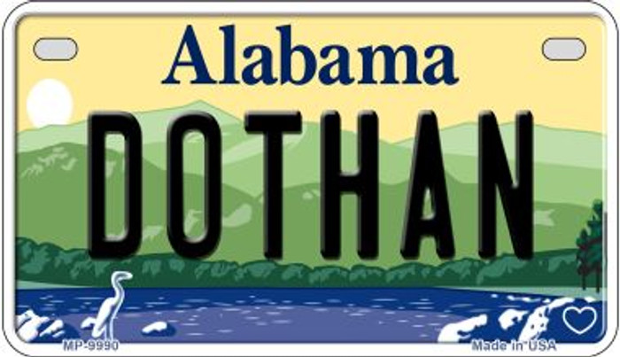 Dothan Alabama Novelty Metal Motorcycle Plate MP-9990