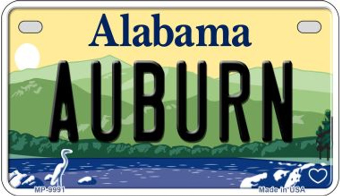 Auburn Alabama Novelty Metal Motorcycle Plate MP-9991