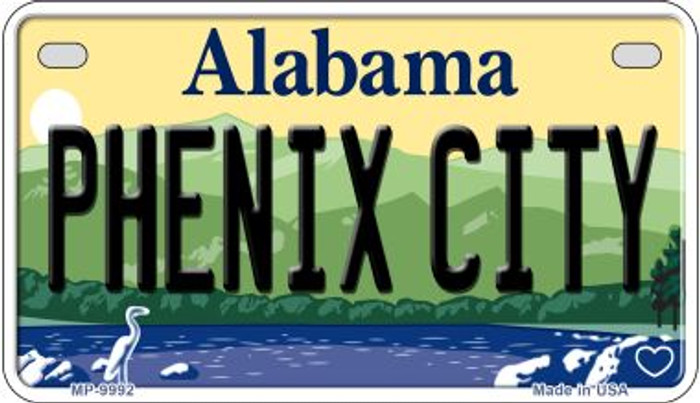 Phenix City Alabama Novelty Metal Motorcycle Plate MP-9992
