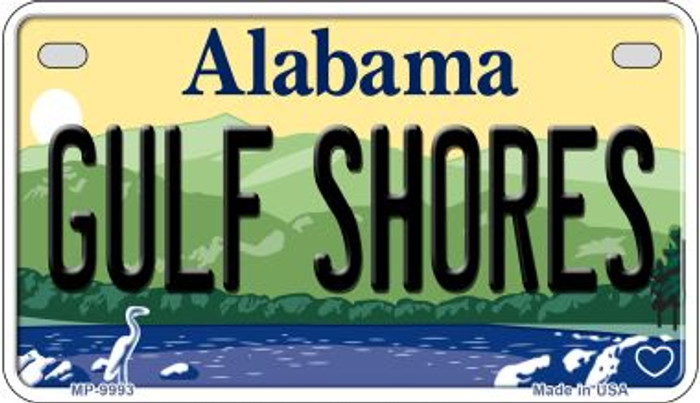 Gulf Shores Alabama Novelty Metal Motorcycle Plate MP-9993