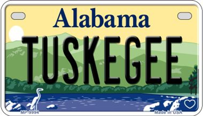 Tuskegee Alabama Novelty Metal Motorcycle Plate MP-9994