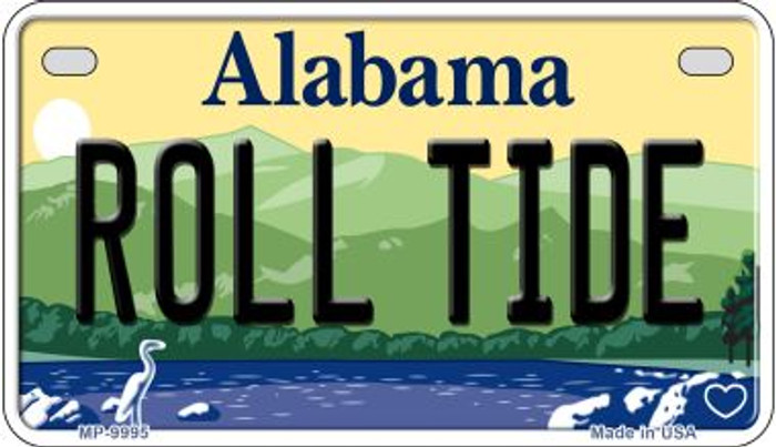 Roll Tide Alabama Novelty Metal Motorcycle Plate MP-9995