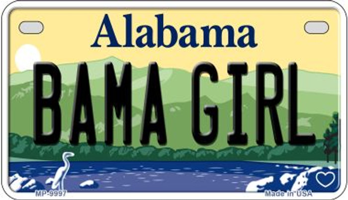 Bama Girl Alabama Novelty Metal Motorcycle Plate MP-9997