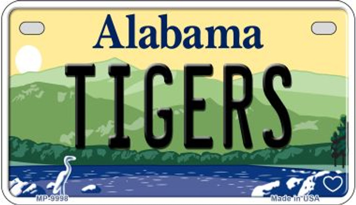 Tigers Alabama Novelty Metal Motorcycle Plate MP-9998