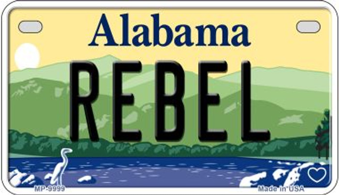 Rebel Alabama Novelty Metal Motorcycle Plate MP-9999