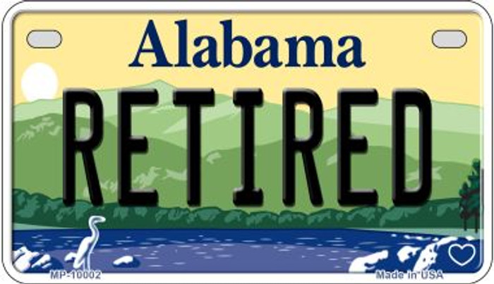 Retired Alabama Novelty Metal Motorcycle Plate MP-10002