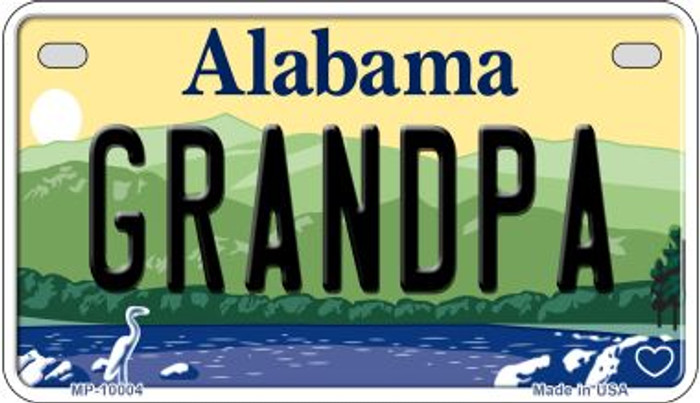 Grandpa Alabama Novelty Metal Motorcycle Plate MP-10004