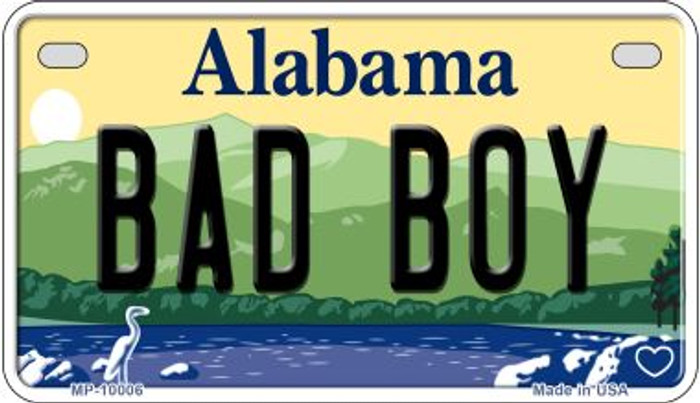 Bad Boy Alabama Novelty Metal Motorcycle Plate MP-10006