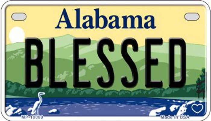 Blessed Alabama Novelty Metal Motorcycle Plate MP-10009