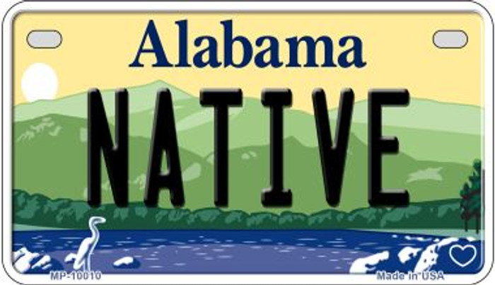 Native Alabama Novelty Metal Motorcycle Plate MP-10010